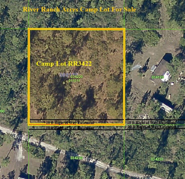 River Ranch Acres Camp Lot For Sale RRPOA area Florida