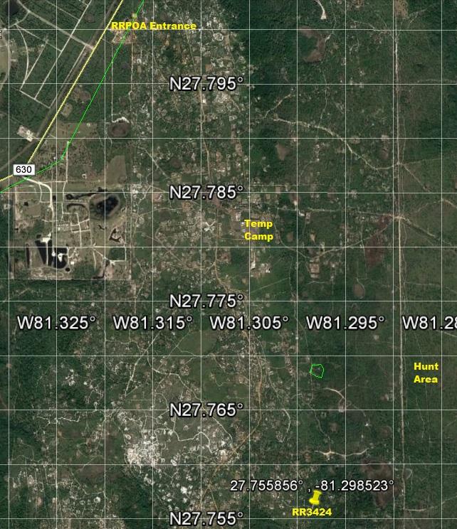 River Ranch RRPOA Camp Lot for sale atv 4x4 hunt
